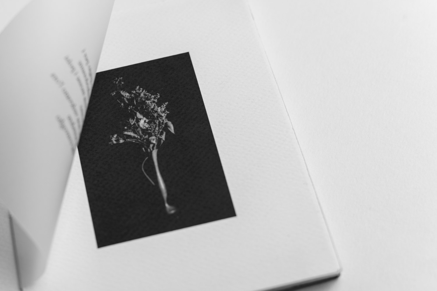 black and white vase printed in the Artist Book - Stefano Conti