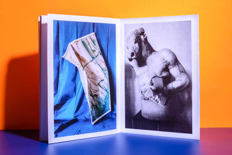 greek statue in a book by Stefano Conti