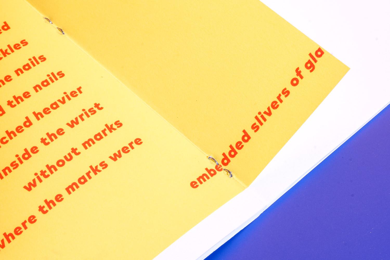 staple in yellow paper